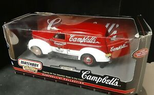 Vintage 2000 Matchbox Collectibles Campbells 1940 Ford Sedan Delivery Diecast.
