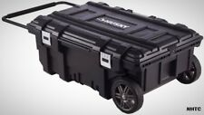Mobile Job Box 35 in. Rolling Portable Tool Storage Cart Weather Proof Container