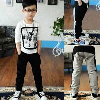 Cool Baby Boys Hip-pop Sport Pants Kid Cotton Trouser Fit 2-7 Years Children E87