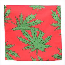 "Cannabis Marijuana Leaf 21"" x 21"" (54cm x 54cm) Kerchief Head Scarf Bandana"