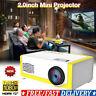 UK Mini Portable Projector YG300 3D HD LED Home Theater Cinema 1080P AV USB TOP