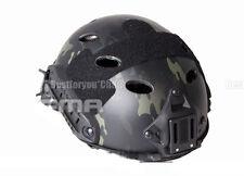 FMA Tactical Airsoft Adjustable Fast Helmet PJ MultiCam Black NVG Mount (L/XL)