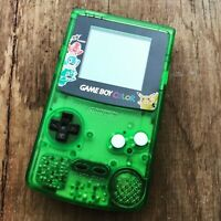 Nintendo GameBoy Color Refurbished Colour Game Boy Handheld Pokemon Green Black