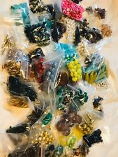 60 Bags Of Beads & Jewelry Findings New Used Vintage Mod B10