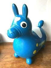 Rody Blue Pony Horse Vintage 1984 Ledra Plastic Rubber Bouncing Made In Italy