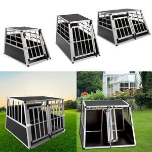 Aluminium Car Dog Cage Pet Travel Puppy Crate Pets Carrier Transport Box w/ Lock