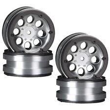 Axial AX8088 8-Hole 1.9 Beadlock Wheel Satin Chrome (4) SCX10