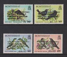Montserrat - 1987,Royal Rubis Mariage,Oiseaux Optd Ensemble - MNH - Sg 739b/42b