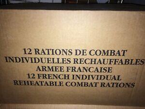 #2013# Ration de combat LOT DE 12  MENUS DIFFERENTS CARTON  Etat neuf .