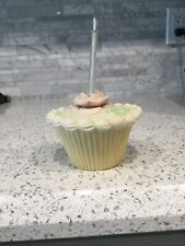 DEPT. 56 BISQUE CUPCAKE CANDLE CAKE TOPPER 3 PIECES OIL WICK Birthday