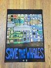 Hundertwasser Save the Whales Greenpeace Poster 1982 RARE!