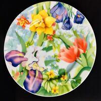 Essex enviro-safe SPRING GARDEN Salad Plate Gerald Patrick Iris Deffodils Tulip