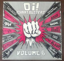Oi! Chartbusters - Volume 6 Punk Rock UK LP Vinyl Record Link LP127 1990
