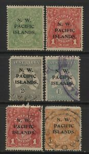 New Guinea From 1915 Australia Stamps Ovprt N. W. PACIFIC ISLANDS. MM + Used