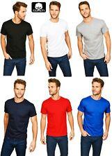 Unisex Einfarbig T-Shirts Baumwolle Rundhals T-Shirt Regular Lässig S M L XL