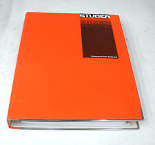 Studer D827 MCH Training Course - Operation & Applications Manual. MN