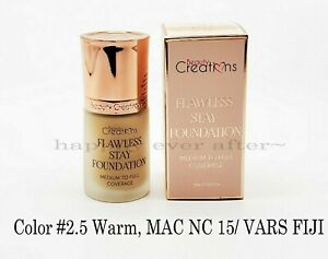 Beauty Creations Flawless Long Stay Foundation - Hydrating Vitamin E -Color #2.5