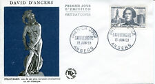 FRANCE FDC - 304 1210 3 DAVID D'ANGERS 13 6 1959