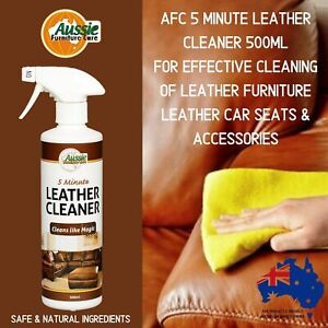LEATHER CLEANER For Leather Furniture & Leather Car Seats 500ml Easy To Use