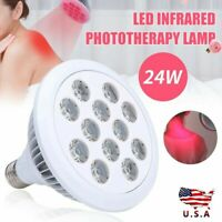 24W Pain Relief Wrinkle Removel 660nm 850nm  Red LED Infrared Therapy Light USA
