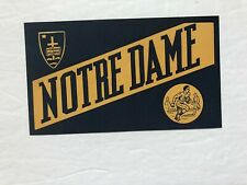 NOTRE  DAME - 1950s  COLLEGE  decal  STICKER  pennant