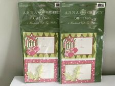 Anna Griffin Gift Tags 4 Handmade Gift Tag Stickers each pack, Set of 2
