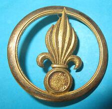 Insigne de béret de la Légion Etrangère, laiton.