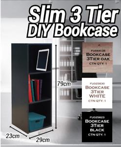 3 Tier Wood Desktop Storage Study Office Table Desk Organizer Bookshelf Bookcase