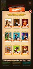 Coin Master Full set of LEGENDS. 6 white cards. ***Fast Delivery*** Monk Wizard