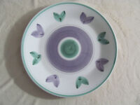Caleca Violetta Hand Painted in Italy-Purple/Green-Round Serving Platter-15 7/8""