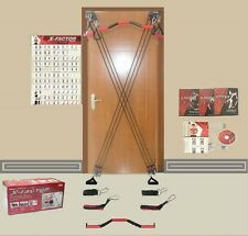 X-Factor Full Door Home Gym +FREE Straight Bar, DVD, Guide, Chart NEW RETAIL BOX