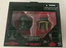 Star Wars Black Series Titanium Series Imperial Death Trooper and Rebel Commando