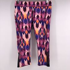 Reebok Active Cropped Leggings Patterned Yoga Capri Pants Size Medium