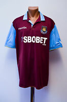 WEST HAM UNITED ENGLAND 2010/2011 HOME FOOTBALL SHIRT JERSEY MACRON
