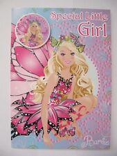 Magnifique barbie mariposa spécial petite fille anniversaire carte de vœux badge &