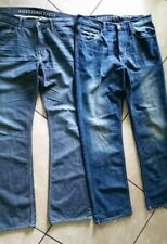 NWOT and EUC (2 PAIR) AMERICAN EAGLE Jeans Size 34 × 34 Dark Wash Distressed