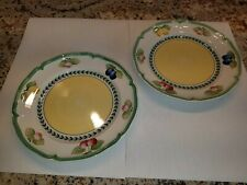 "Pair of 10.5"" Villeroy & Boch French Garden Fleurence Dinner Plates"