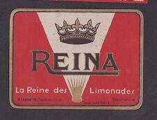 Ancienne étiquette  France Limonade  BN16752 Reina Lille