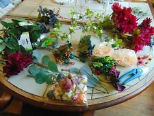Lot of 30 Flowers Assorted Bunches Crafting Supplies Pruner Floral Tape Garland