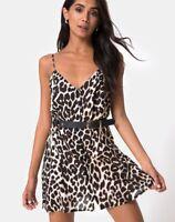 MOTEL ROCKS Sanna Slip Dress in Oversize Jaguar  (mr101)