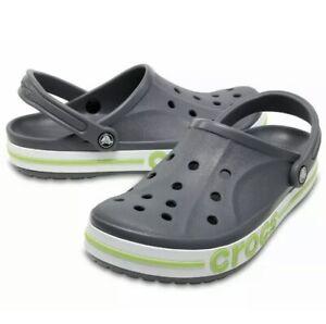 Crocs Bayaband Clog Charcoal/Volt Green Unisex Size m5/w7 205089-0A3