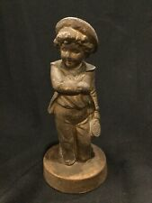 Antique Statue of a Little Boy With Hat D4