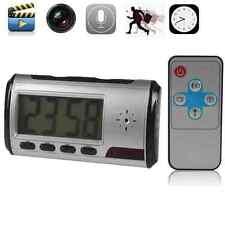 MINI DETECTIVE SECRET SPY CAM CLOCK HIDDEN VIDEO CAMERA DVR CCTV MOTION DETECTOR