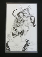 TAROT WITCH OF THE BLACK ROSE SKETCH BY JIM BALENT #386/500 SIGNATURE