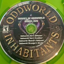 XBOX Bonus DVD ODDWORLD Inhabitants & pre-order case (NO Xbox GAME 2005