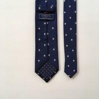 charles tyrwhitt tie blue silver 100% silk necktie  pa0503