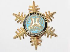 02E17 ANCIENNE BROCHE BADGE INSIGNE ÉMAILLÉ SKI ESF CLUB DES SPORTS COURCHEVEL