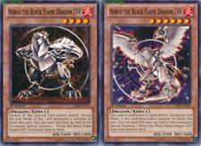 Horus the Black Flame Dragon LV4 + LV6 X 1st Mint YSKR-EN019, EN020 yugioh SET