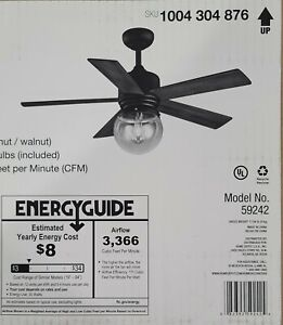 Home Decorators Collection-42in Ceiling Fan-Amelia
