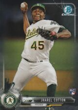 2017 BOWMAN CHROME JHAREL COTTON P OAKLAND A'S ROOKIE #22 HOT!